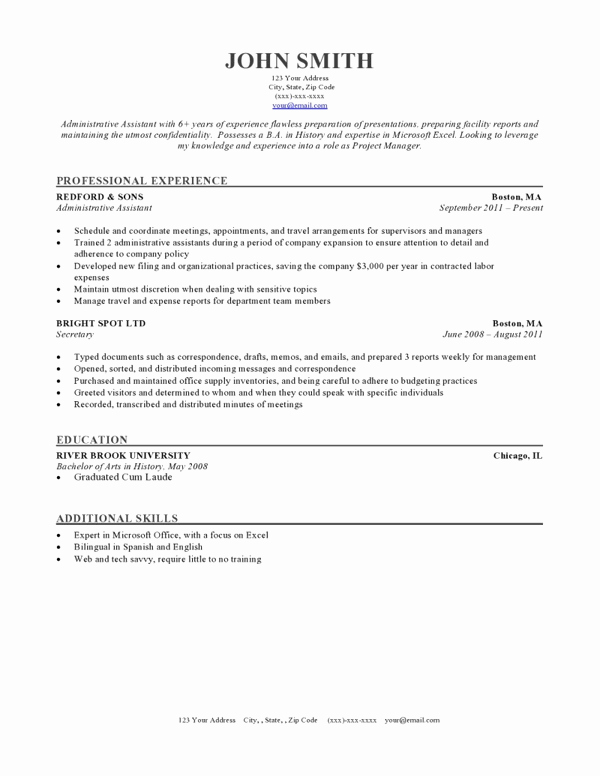Resume Templates for Word Free New 50 Free Microsoft Word Resume Templates for Download