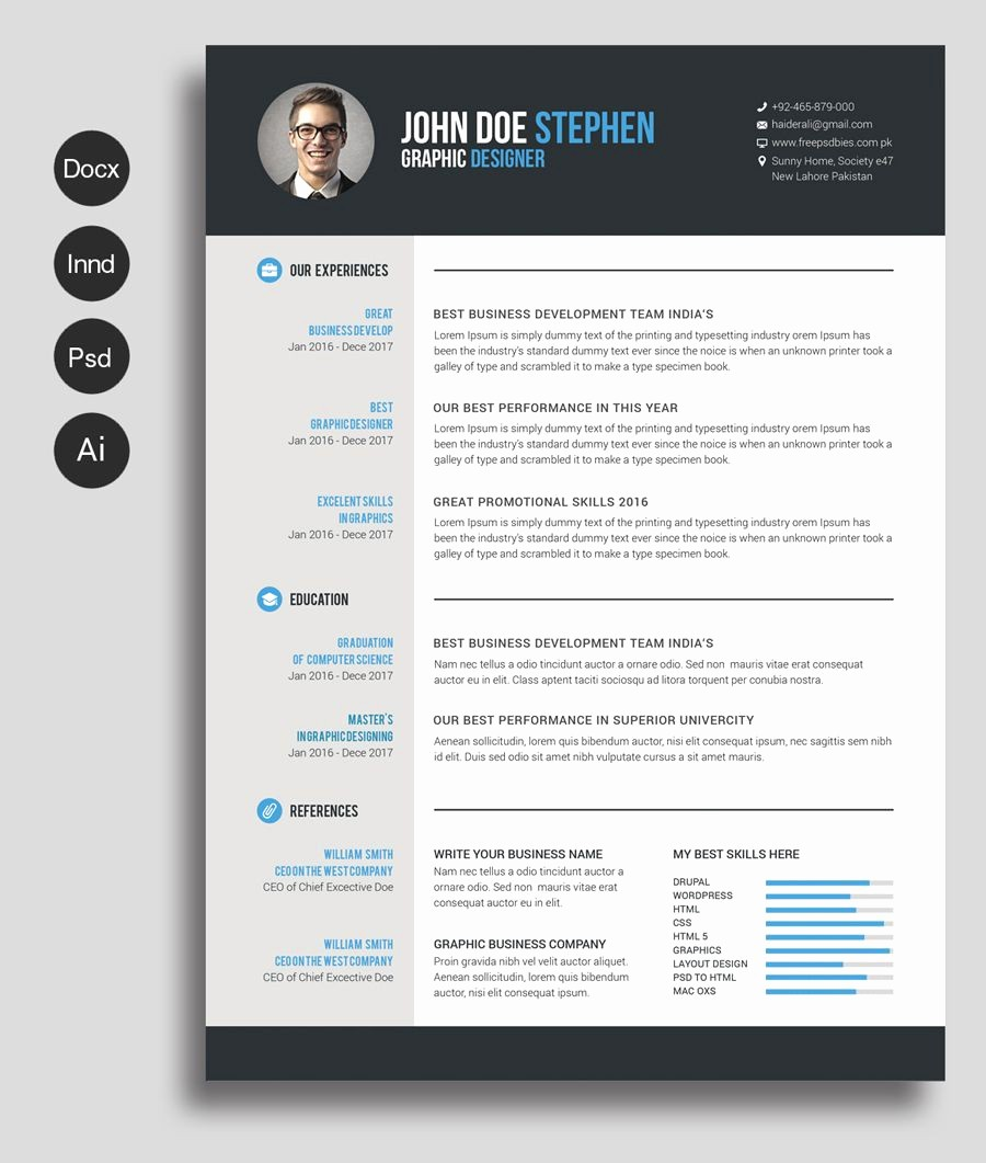 Resume Templates for Word Free New Free Ms Word Resume and Cv Template