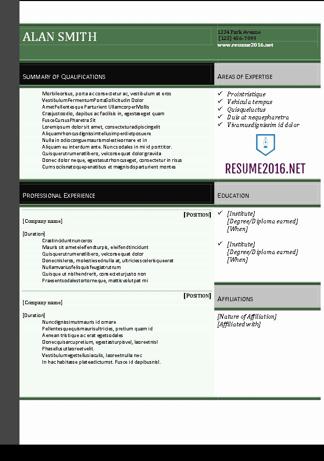 Resume Templates for Word Free New Resume 2016 Download Resume Templates In Word