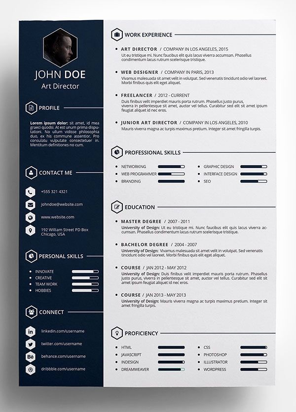 Resume Templates for Word Free Unique Free Creative Resume Template In Psd format …