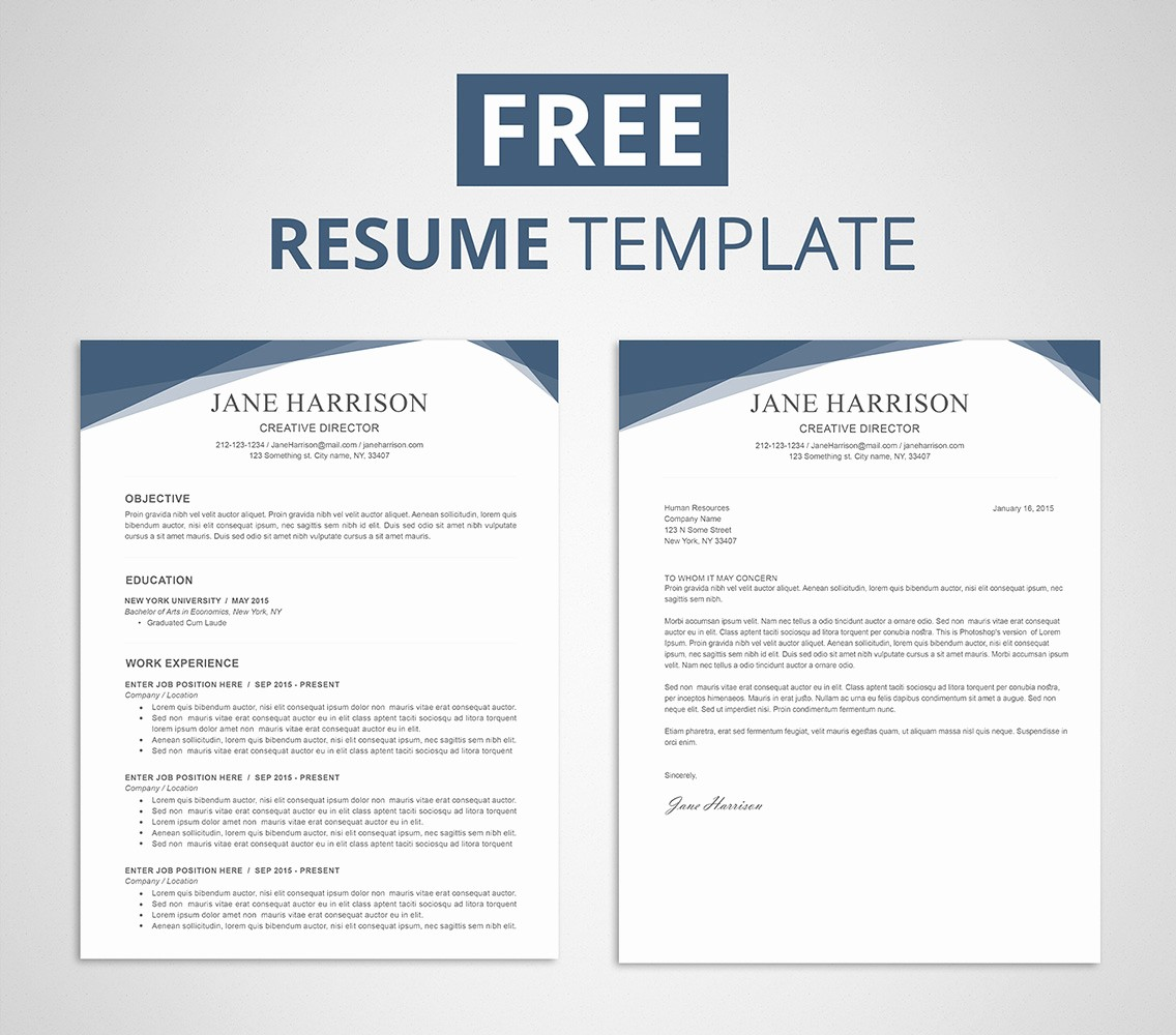 Resume Templates Free Microsoft Word Awesome Free Resume Template for Word & Shop Graphicadi