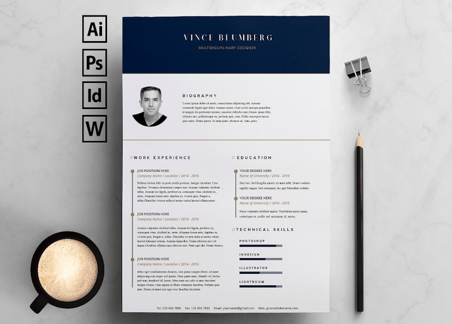 Resume Templates Free Microsoft Word Beautiful 60 Plantillas Profesionales De Cv Para Ms Word