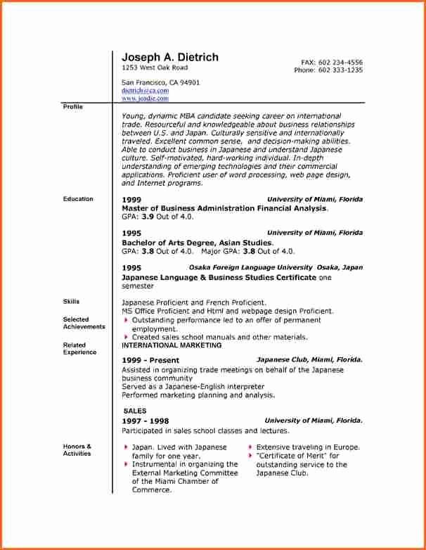 Resume Templates Free Microsoft Word Fresh 6 Free Resume Templates Microsoft Word 2007 Bud