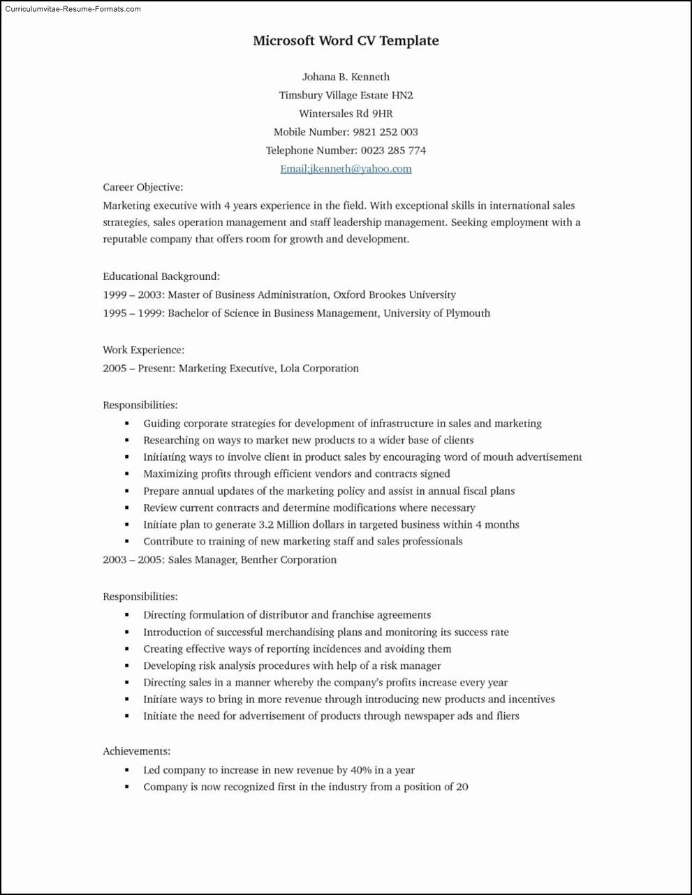 Resume Templates Free Microsoft Word New Best Resume Template Microsoft Word Free Samples