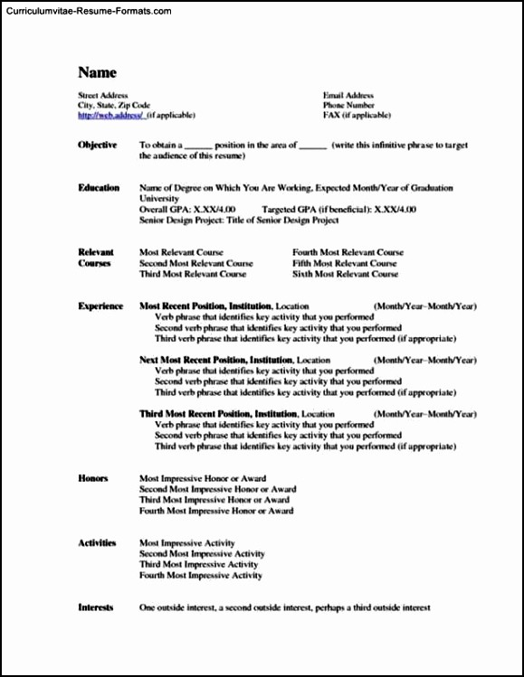 Resume Templates Microsoft Word 2010 Unique Fice 2010 Resume Template Free Samples Examples
