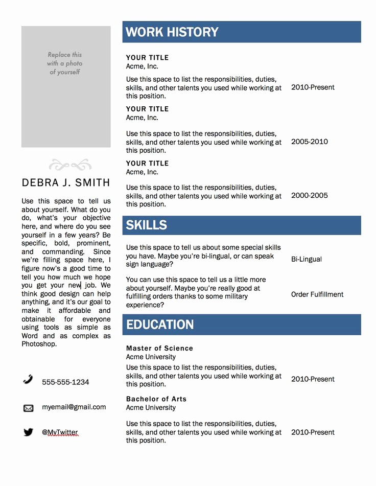 resume templates free