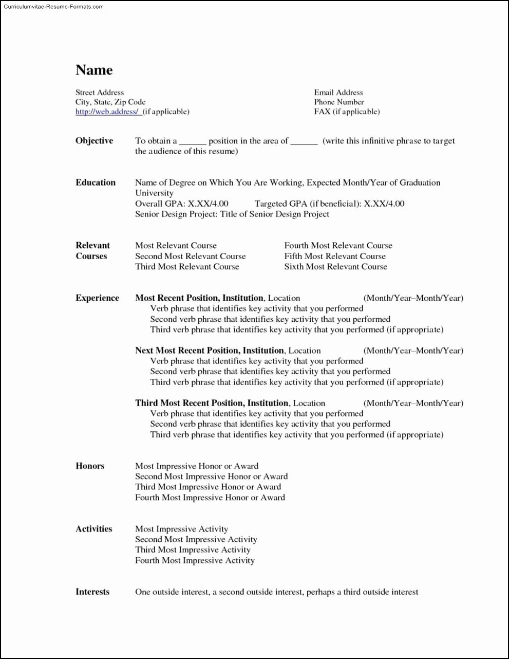 Resume Templates Microsoft Word Free New Free Microsoft Word Resume Template Free Samples