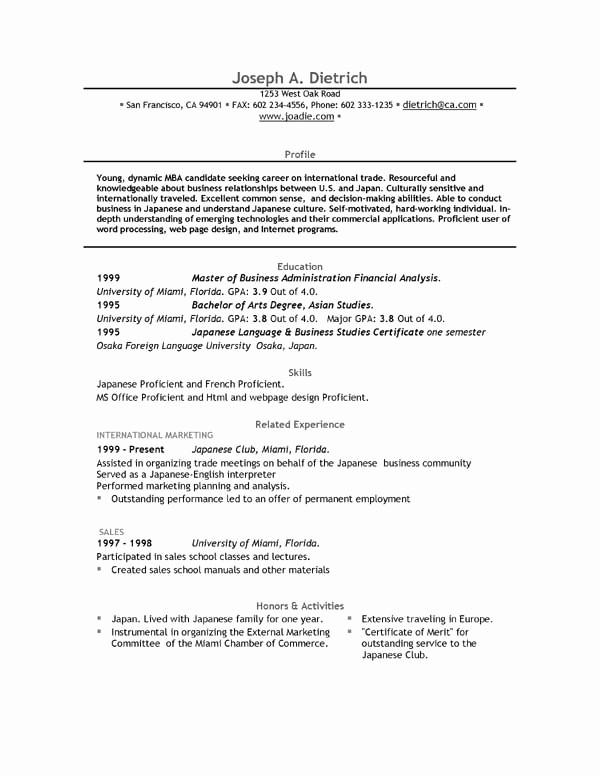 Resume Templates On Microsoft Word Best Of Free Resume Template Downloads