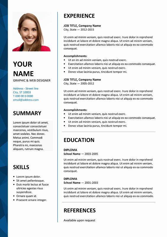 Resume Templates On Word 2007 Elegant Dalston Free Resume Template Microsoft Word Blue Layout