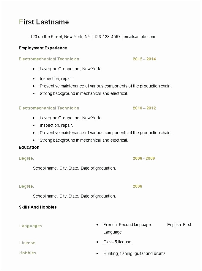 Resume Templates On Word 2007 Inspirational Free Resume Templates Microsoft Fice Word 2007