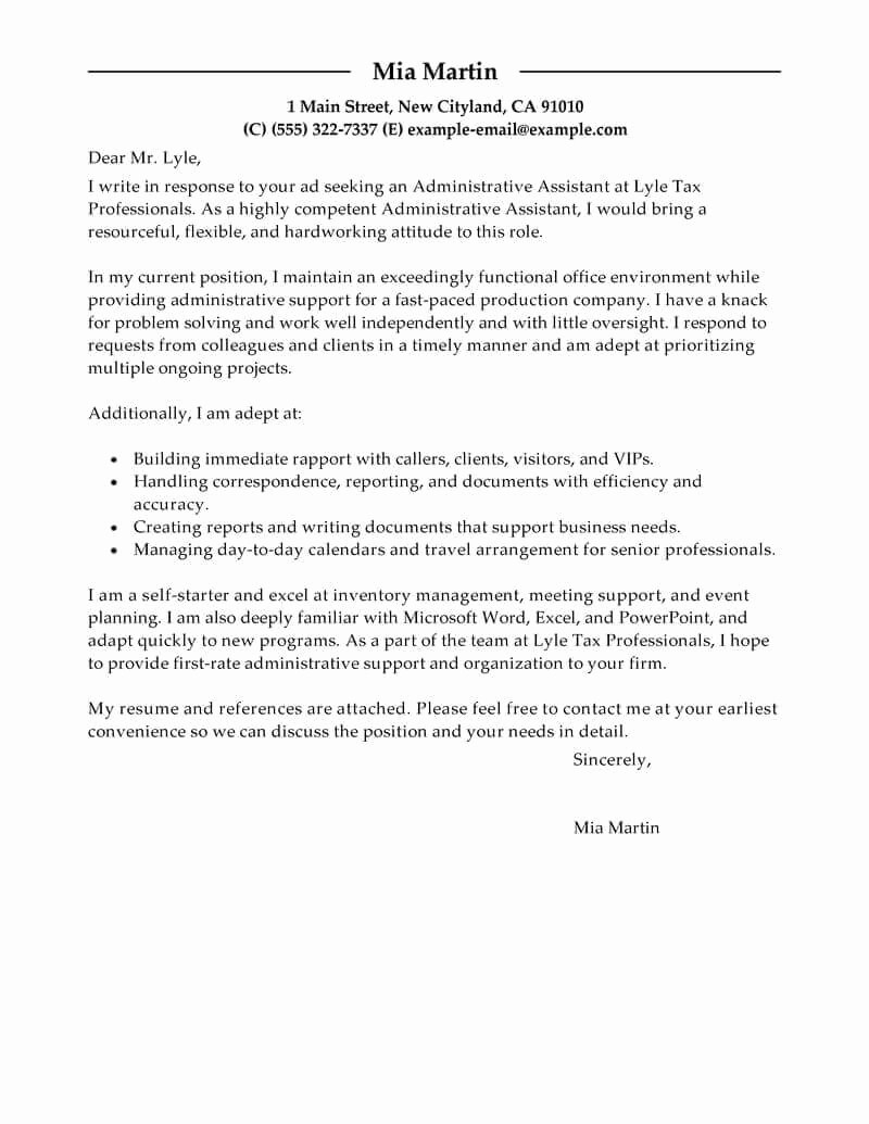 Resumes and Cover Letter Samples Best Of Free Cover Letter Examples for Every Job Search