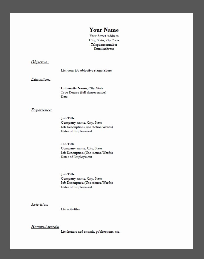 Resumes Fill In the Blanks Awesome Blank Job Application form Search Results