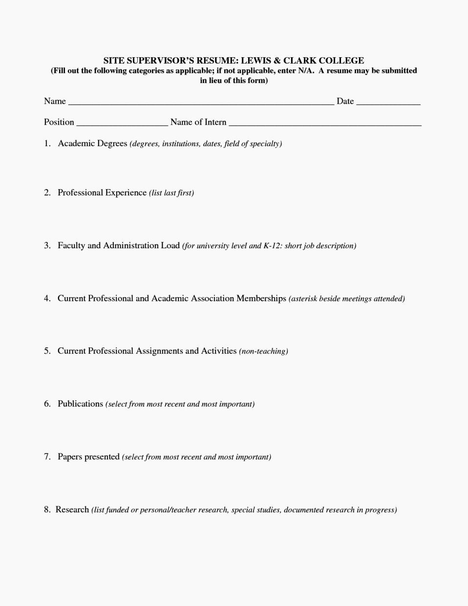 Resumes Fill In the Blanks Beautiful Fill In Resume Templates Resume Template