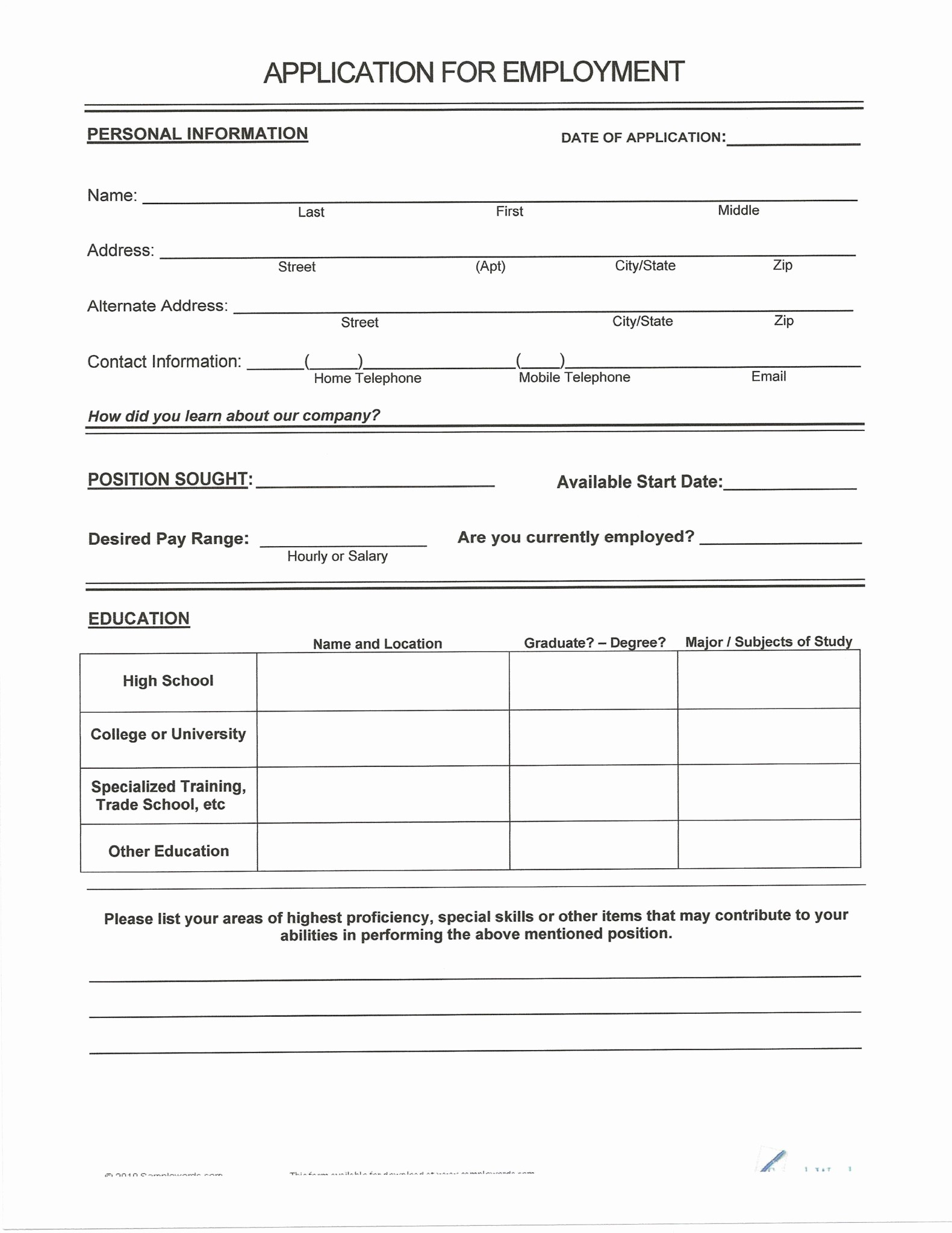 Resumes Fill In the Blanks Unique Free Resumes to Fill Out and Print