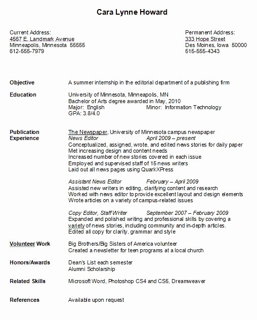 Resumes for New College Graduates Luxury 17 Images About Resume Job On Pinterest