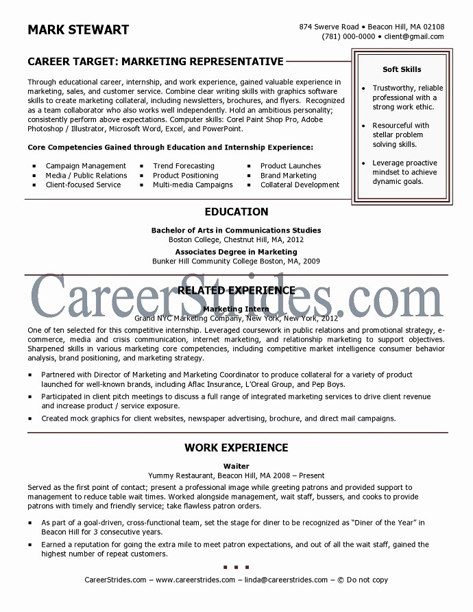 Resumes for New College Graduates Luxury Resume Sample Of A Recent College Graduate by A Nationally