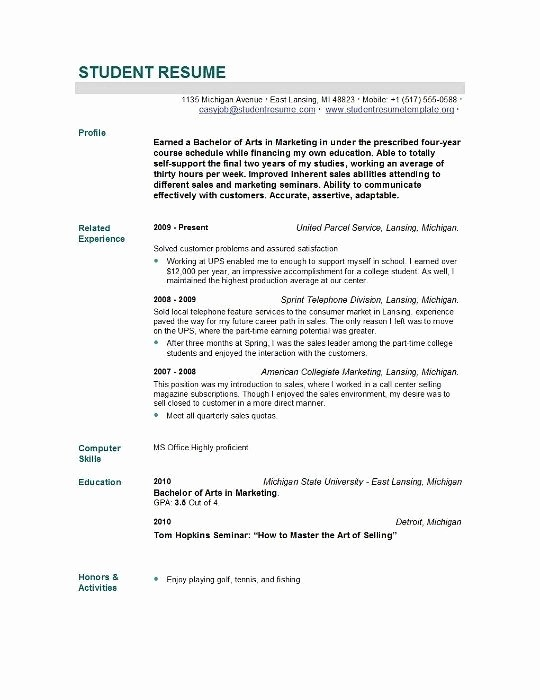 Resumes for New College Graduates Unique New Graduate Resume Sample Best Resume Collection