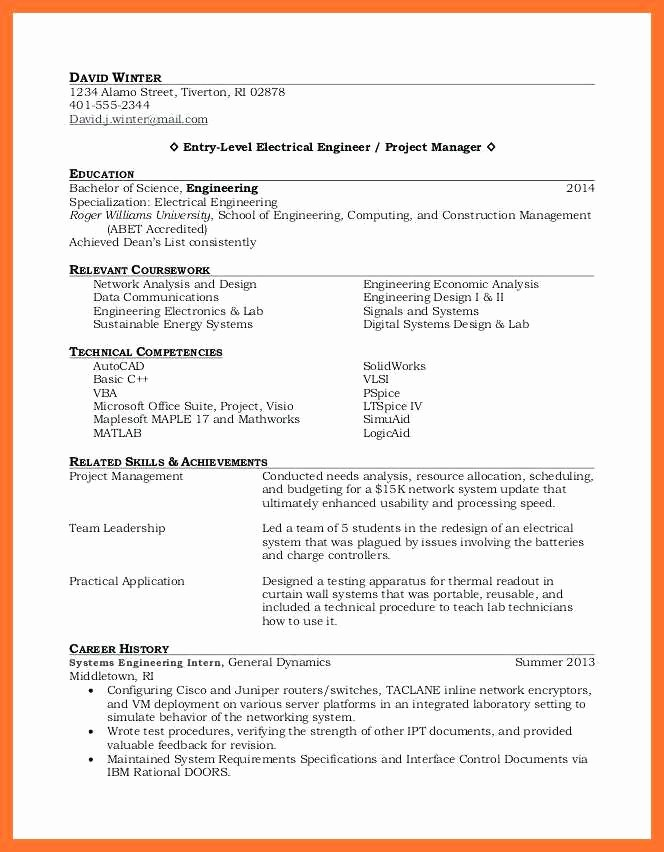 Resumes for Recent College Grads Fresh 14 15 Resumes for Recent College Graduates Sample