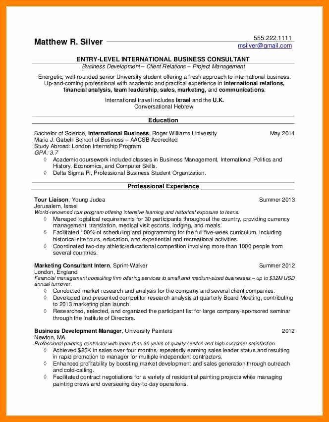 Resumes for Recent College Grads Luxury 6 Examples Of College Student Resumes