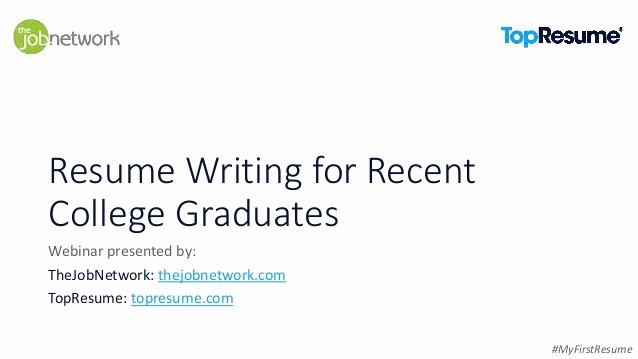 Resumes for Recent College Graduates Elegant Resume Writing for Recent College Graduates