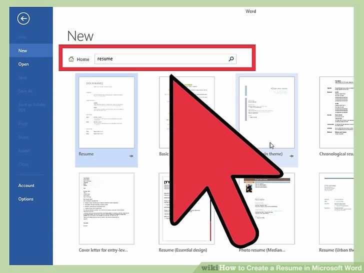 Resumes On Microsoft Word 2007 Best Of How to Create A Resume In Microsoft Word with 3 Sample