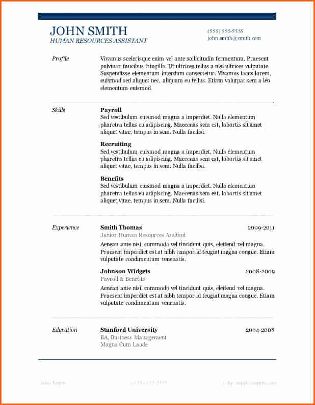Resumes On Microsoft Word 2007 Fresh 13 Microsoft Word 2007 Resume Templates Bud Template