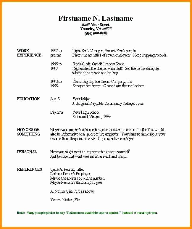 Resumes On Microsoft Word 2007 Fresh Resume Ms Word Template Resume Templates Word Job Resume