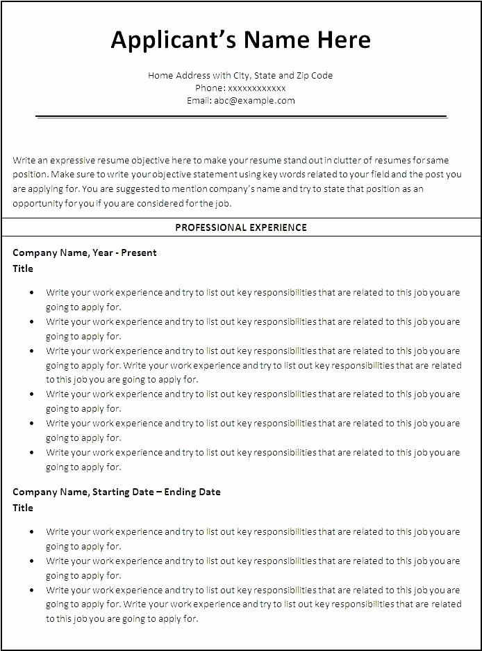 Resumes On Microsoft Word 2007 Lovely How to format Resume In Microsoft Word 2007