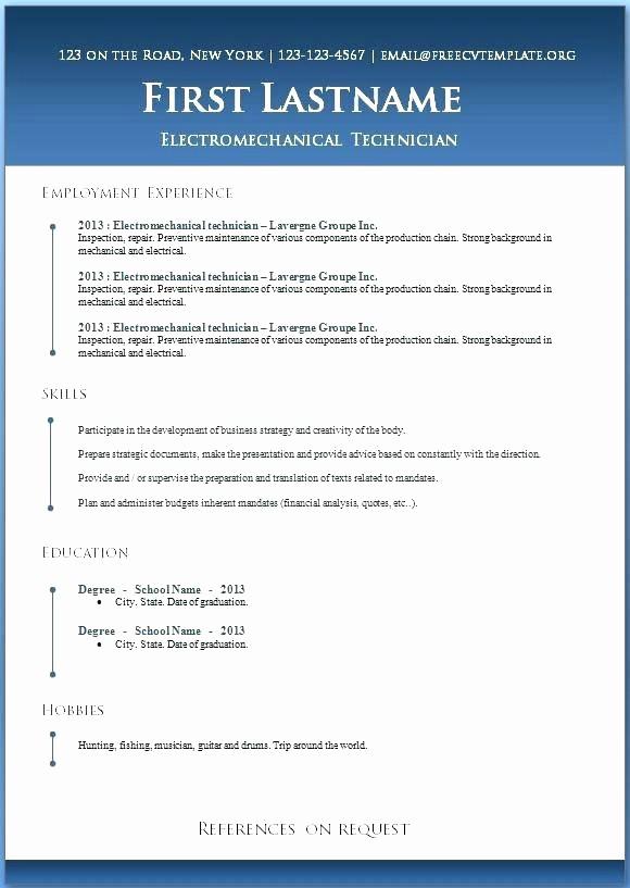 Resumes On Microsoft Word 2010 Elegant Professional Resume Template Microsoft Word 2010