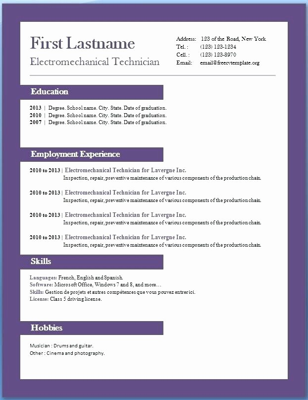 Resumes On Microsoft Word 2010 Elegant Resume Templates Word 2010 Talktomartyb