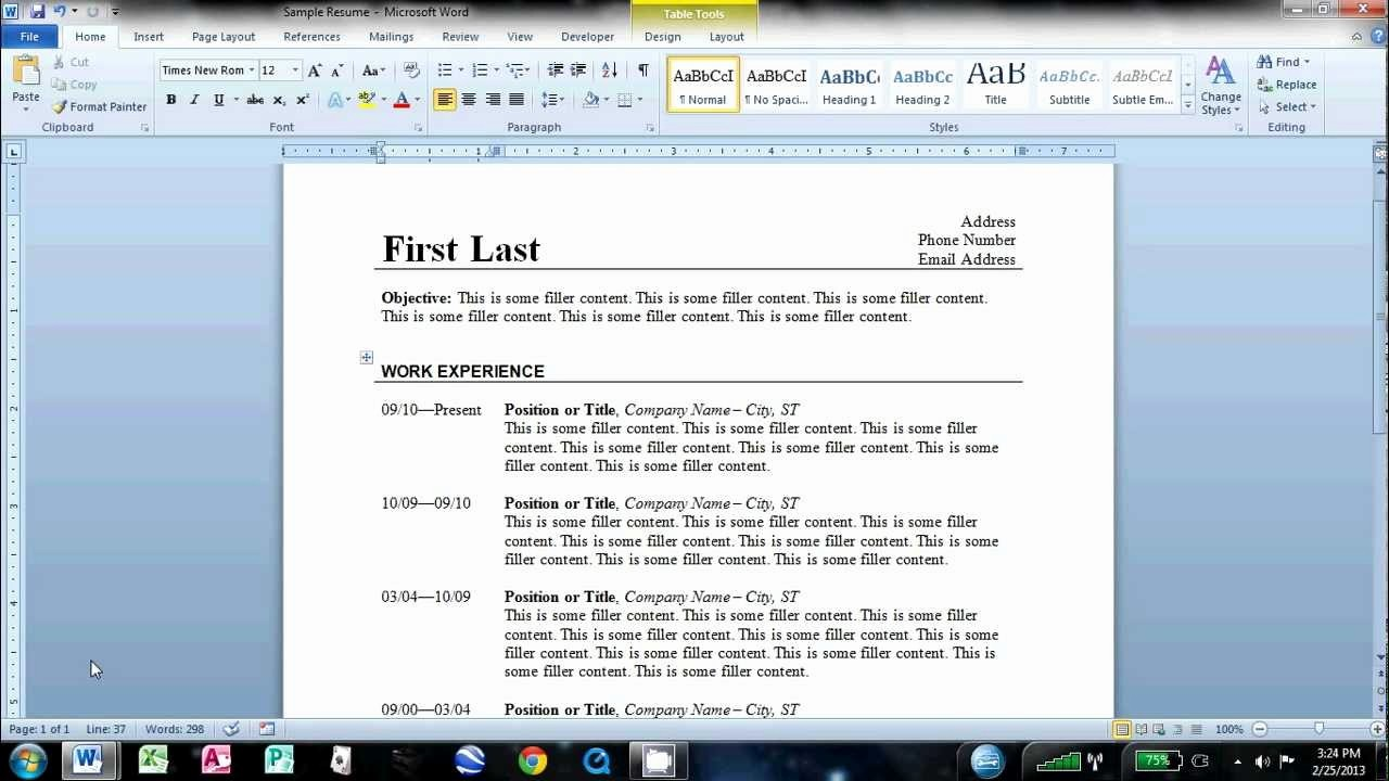 Resumes On Microsoft Word 2010 Inspirational How to Make An Easy Resume In Microsoft Word