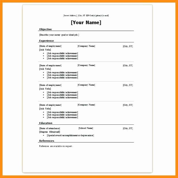Resumes On Microsoft Word 2010 Lovely 6 Resume Templates for Microsoft Word 2010