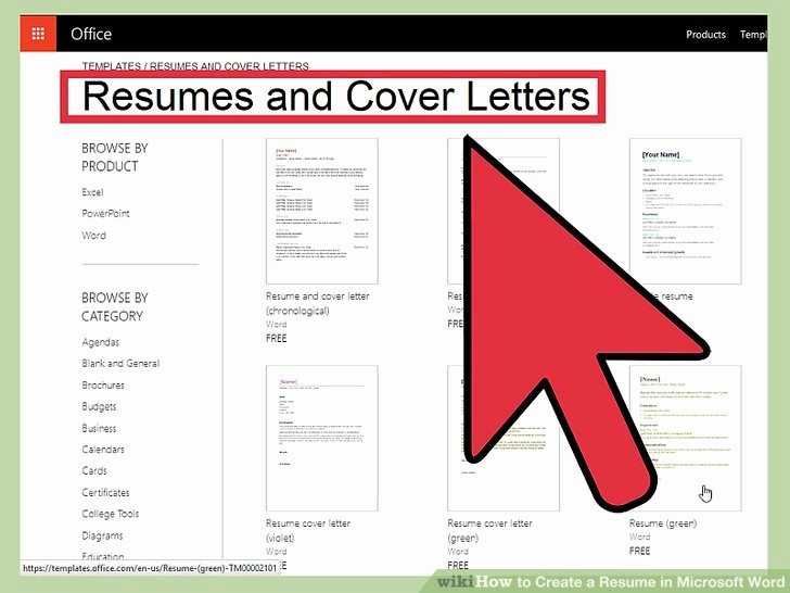 Resumes On Microsoft Word 2010 Unique How to Create A Resume In Microsoft Word with 3 Sample