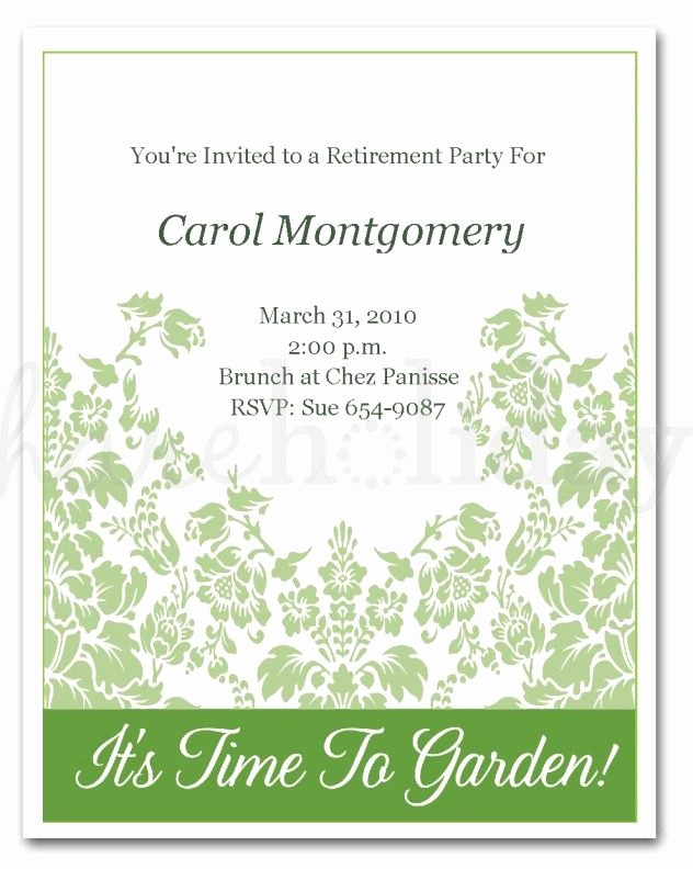 Retirement Certificate Templates for Word Awesome Retirement Invitation Template Word