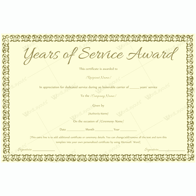 Retirement Certificate Templates for Word Beautiful 89 Elegant Award Certificates for Business and School events