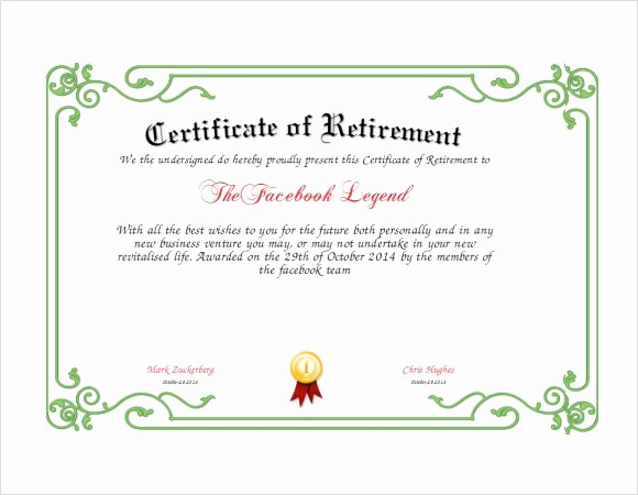Retirement Certificate Templates for Word Best Of Army Certificate Appreciation Example