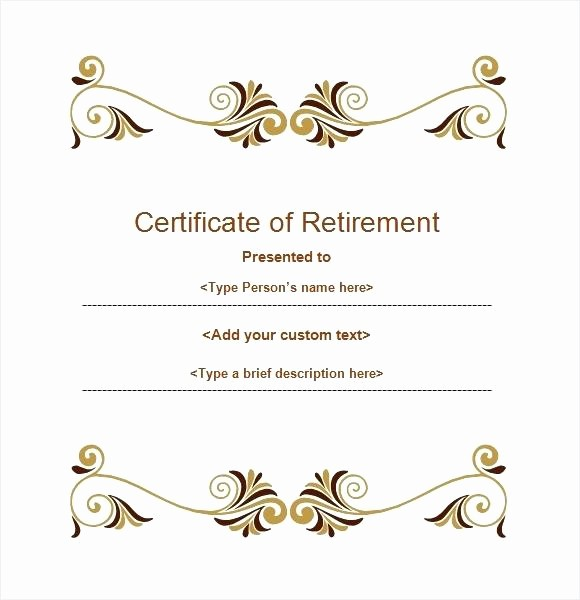 Retirement Certificate Templates for Word Elegant Free Invitation Templates for Word Birthday Party Template