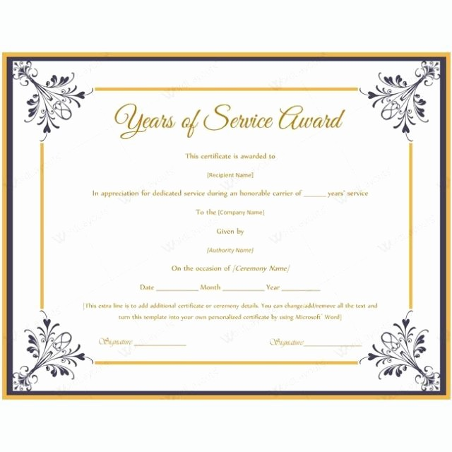 Retirement Certificate Templates for Word Elegant Retirement Certificate Template Free Download Aashe