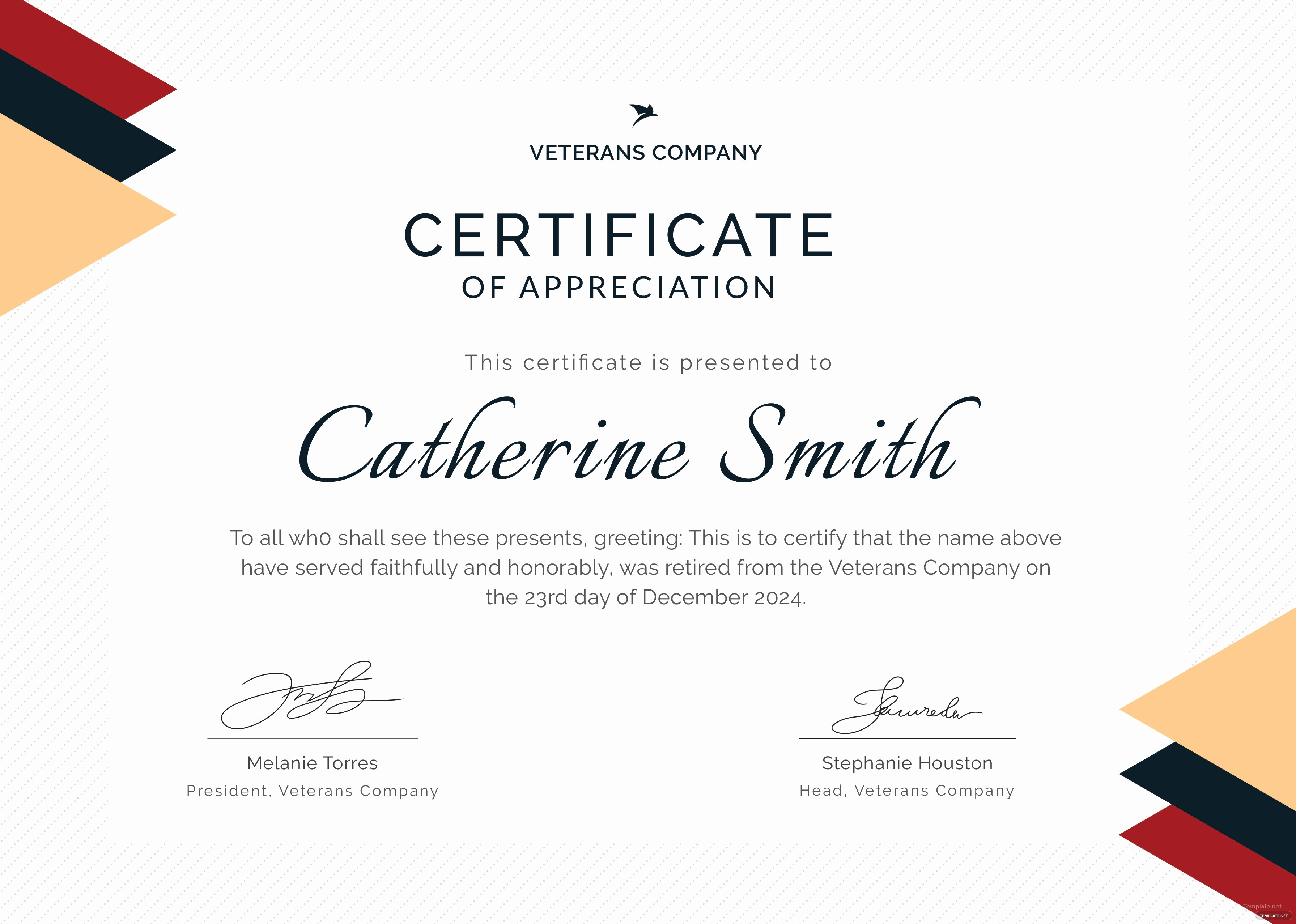 Retirement Certificate Templates for Word Fresh Free Retirement Certificate Of Appreciation Template In