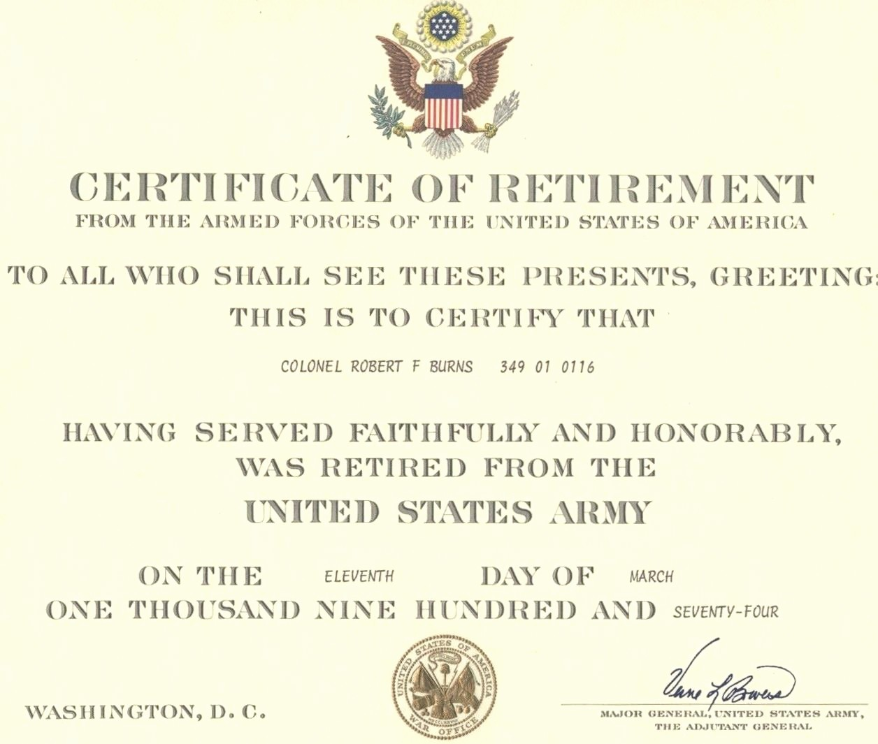 Retirement Certificate Templates for Word Inspirational Template Navy Retirement Certificate Template