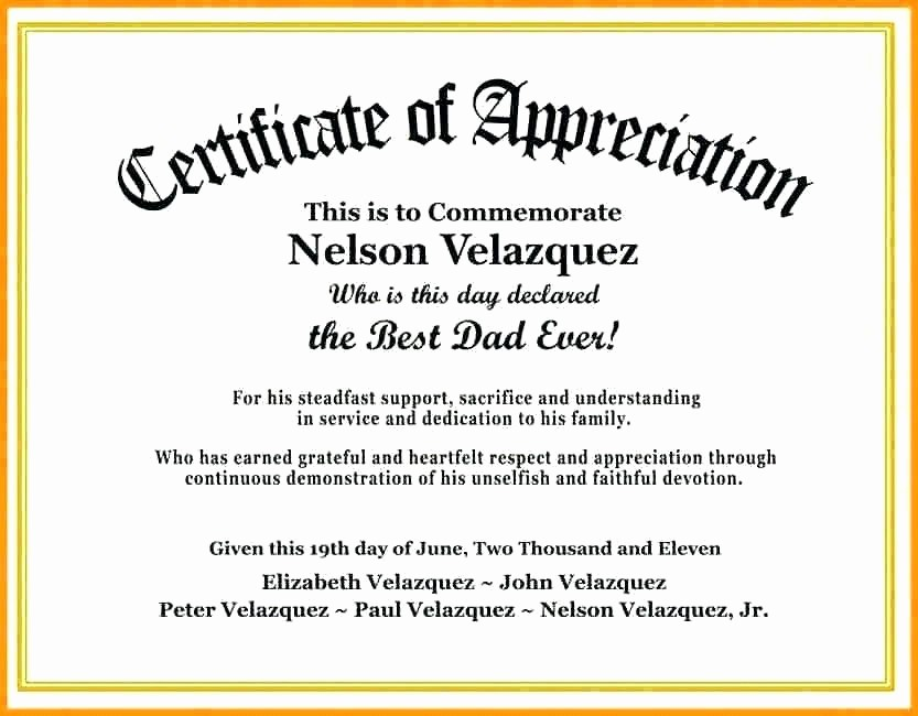Retirement Certificate Templates for Word Lovely Certificate Of Appreciation for Teachers Wording