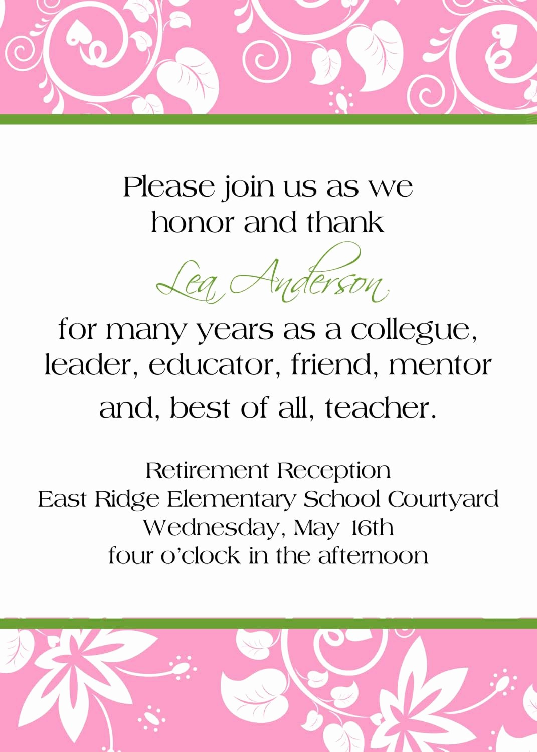 Retirement Certificate Templates for Word Lovely Retirement Party Invitation Template