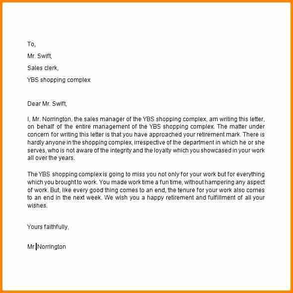 Retirement Letter Of Resignation Sample Awesome 7 Retirement Letter Of Resignation