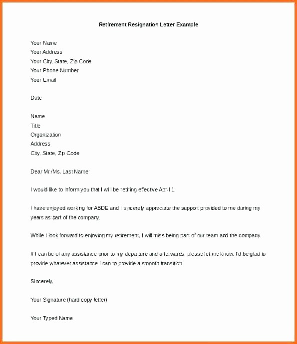 Retirement Letter Of Resignation Sample Awesome Partner Retirement Letter to Clients Template