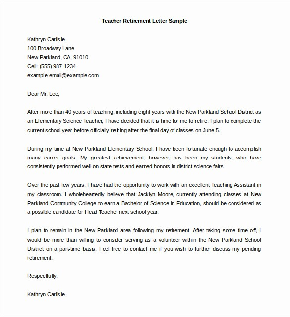 Retirement Letter Of Resignation Sample Elegant 36 Retirement Letter Templates Pdf Doc