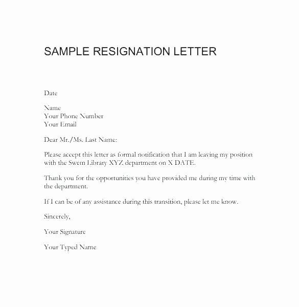 Retirement Letter Of Resignation Sample Fresh Copies Resignation Letters Word Resignation Letter
