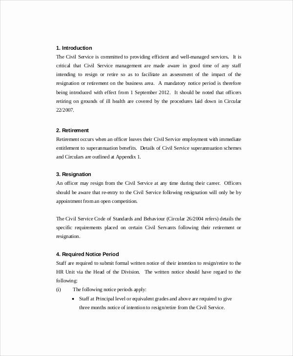 Retirement Letter Of Resignation Sample Inspirational 7 Sample Retirement Resignation Letters