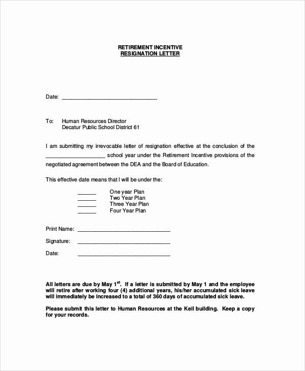 Retirement Letter Of Resignation Sample Unique 7 Sample Retirement Resignation Letters