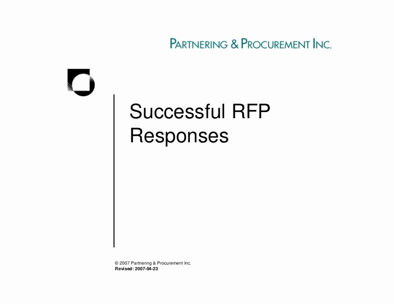 Rfp Response Template Microsoft Word Awesome Successful Rfp Responses