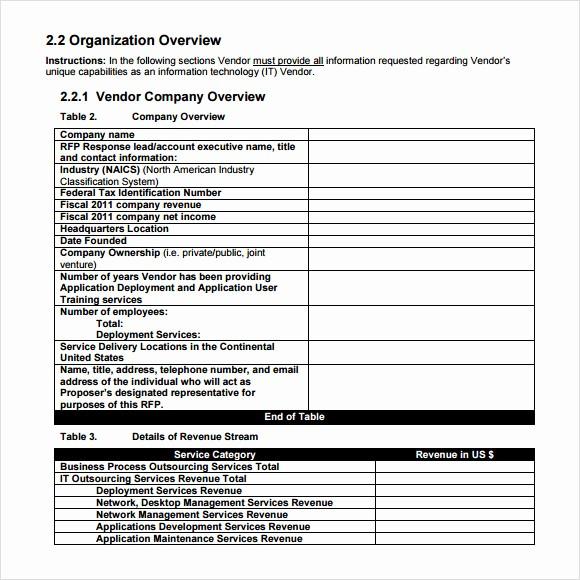 Rfp Response Template Microsoft Word Beautiful 9 Rfp Response Templates for Free Download